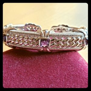 Judith Ripka Sterling Silver Amethyst Bracelet
